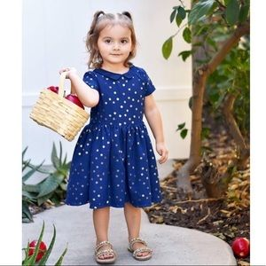 Carter's Glitter Polka Dot Collared Holiday Dress